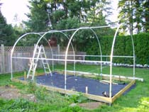 Greenhouse Plastic - attaching it to a hoop house