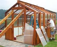 wood greenhouse kits