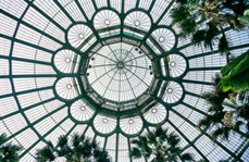 The dome of the Royal Greenhouse of Laeken